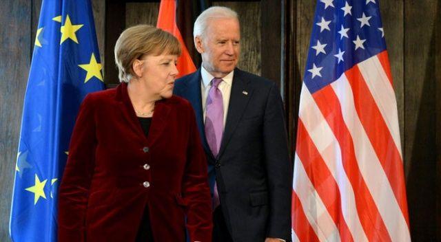 Joe Biden ve Angela Merkel telefonda görüştü
