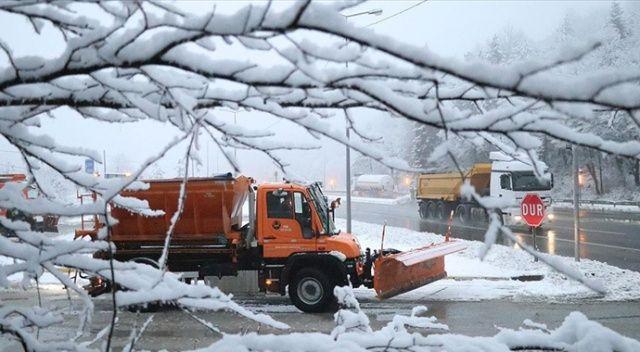 Kar yağışı etkili oldu, kalınlığı 5 santimetreye ulaştı