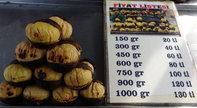 Kestanenin fiyatı etle yarışıyor (Çiği 25, pişmişinin kilosu 130 lira)