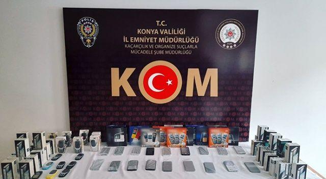 Konya'da 53 gümrük kaçağı cep telefonu ele geçirildi