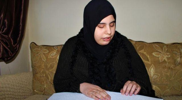 Kur'an sevdası engel tanımadı: 15 yaşındaki görme engelli kız 6 ayda hafız oldu