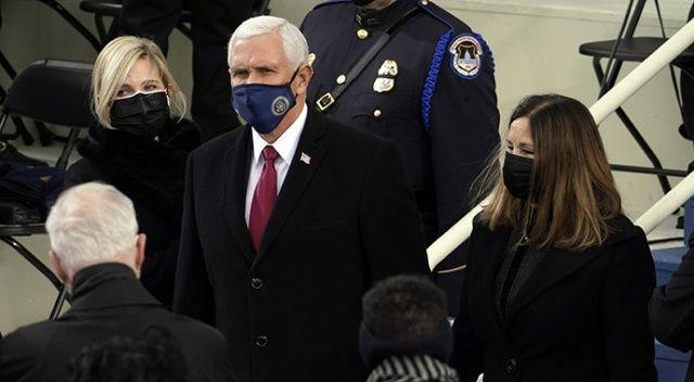 Mike Pence, Biden'ın yemin törenine katıldı