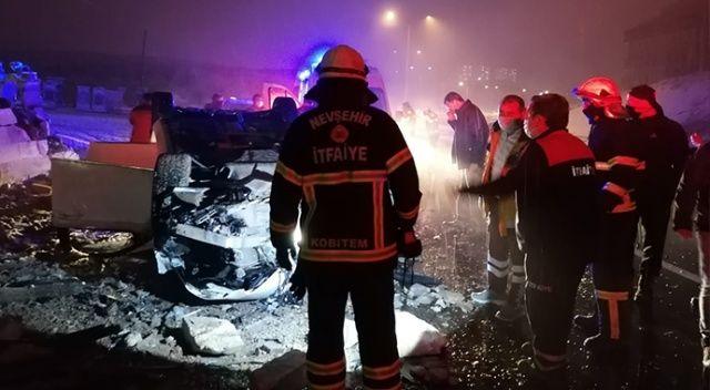 Nevşehir'de feci kaza: 1 kişi öldü
