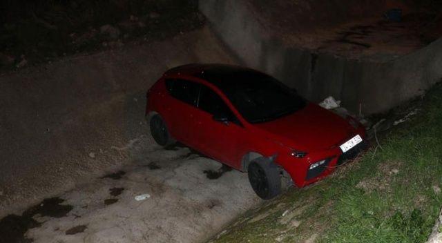 Polisten kaçan 14 yaşındaki sürücü dereye düştü