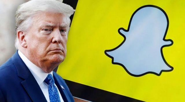 Snapchat, Trump'ın hesabını kapatacağını açıkladı