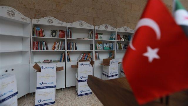 Suriye'nin kuzeyindeki okullara kütüphaneler kuruluyor
