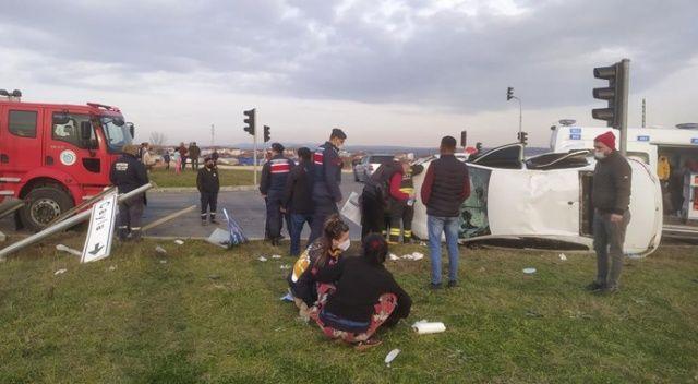 Tekirdağ'da feci kaza: 1'i ağır 5 yaralı