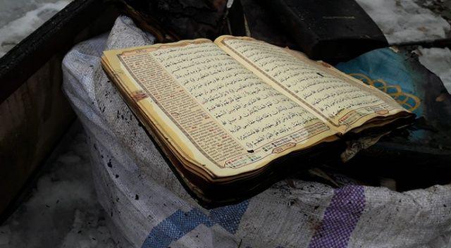 Yangında cami kullanılamaz hale geldi, Kur'an-ı Kerim yanmadı