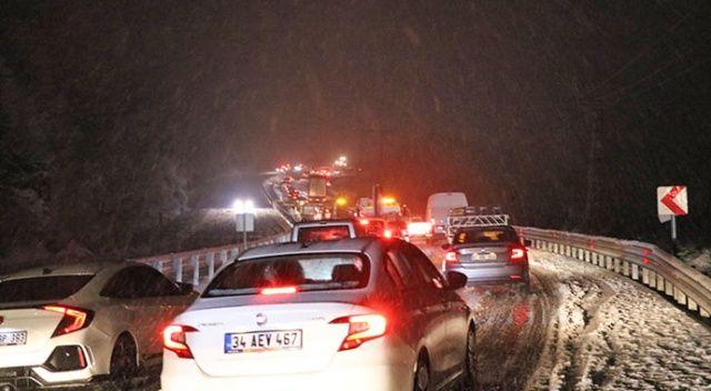 Zonguldak-İstanbul Kara yolunda kar engeli