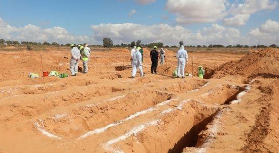 Libya'nın Terhune kentinde yeni bir toplu mezar bulundu