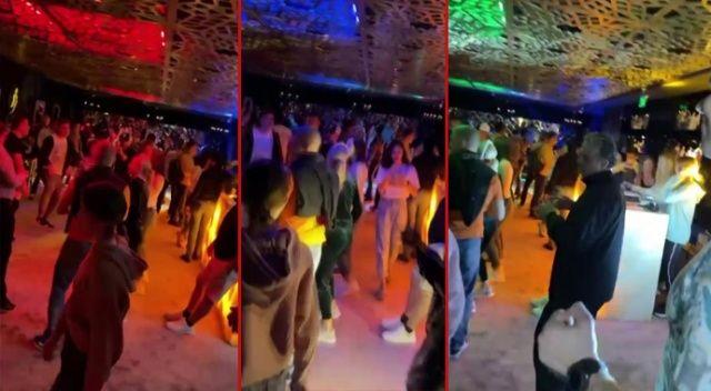 Antalya'da kısıtlamayı hiçe saydılar, diskoda eğlendiler