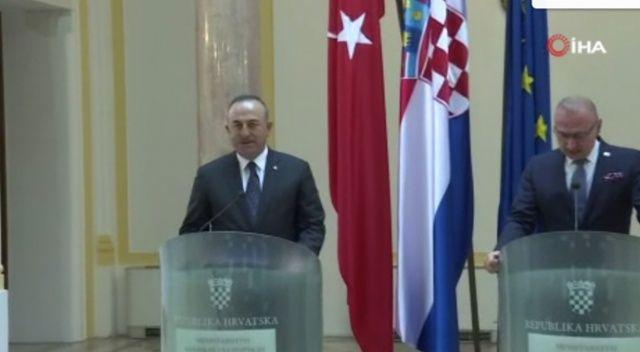 Bakan Çavuşoğlu'ndan Hırvatistan'a dostluk mesajı