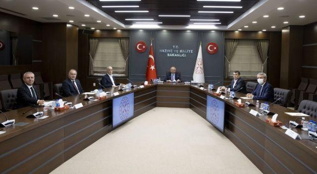 Bakan Elvan, Türk-İş Yönetim Kurulu üyelerini kabul etti