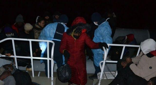 Balıkesir ve Çanakkale'de 82 göçmen kurtarıldı