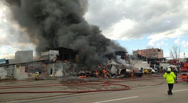 Bursa'da büyük yangın! Dumanlar gökyüzünü kapladı