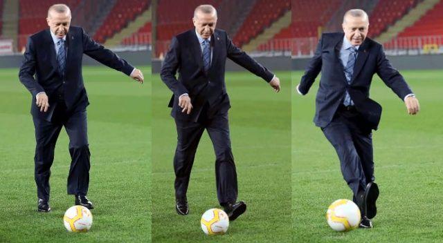 Cumhurbaşkanı Erdoğan'dan 'Durmak yok, gollere devam' paylaşımı