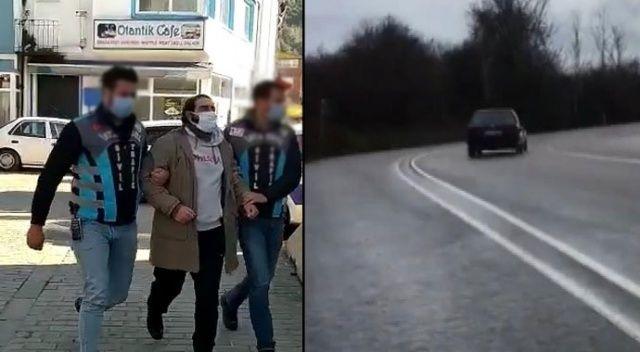 Drift attığı görüntüleri paylaştı, polis ekipleri harekete geçti