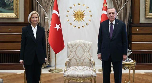 Erdoğan, Gagavuz Özerk Yeri Başkanı Irina Vlah'ı kabul etti