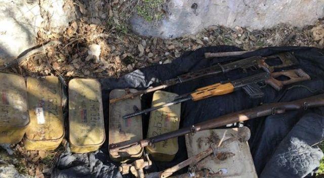 Gabar Dağı'nda terör örgütüne ait mühimmat ele geçirildi