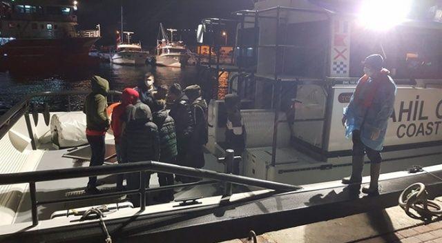 İzmir'de Türk kara sularına geri itilen 9 sığınmacı kurtarıldı