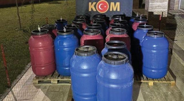 Manisa'da 3 ton sahte içki ele geçirildi