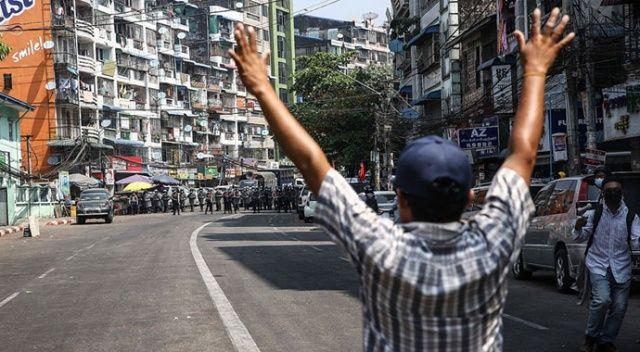 Myanmar'daki protestolarda güvenlik güçlerinin müdahalesi sonucu bir kişi daha öldü