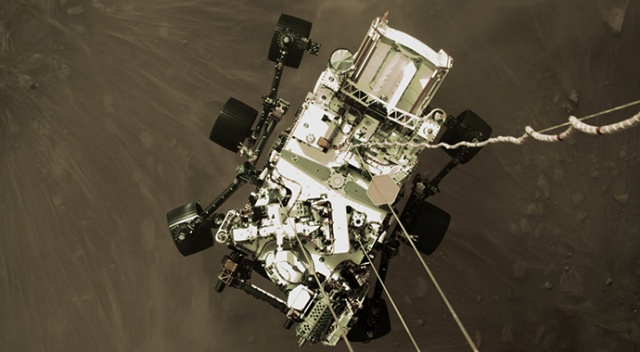 NASA, Perseverance'nin Mars'a iniş anına ait görüntüleri paylaştı