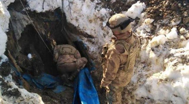 Tunceli'de teröristlerce kullanılan 3 sığınak imha edildi