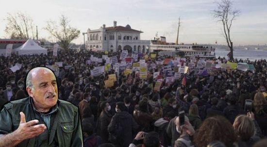 PKK'nın sözde yöneticisi Kalkan'dan Boğaziçi eylemlerine destek açıklaması