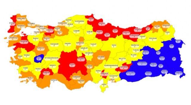 Bakan Koca paylaştı, İşte Türkiye'nin risk haritası