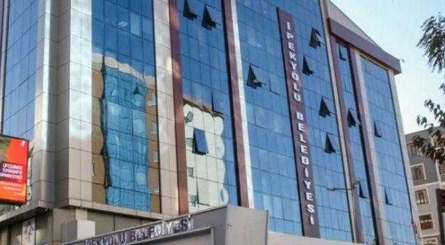 Belediye binasında PKK flamaları