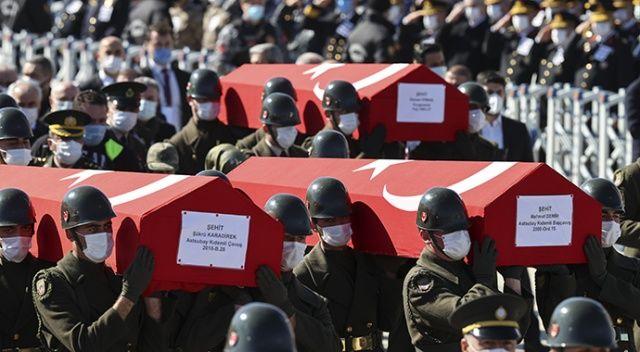 Bitlis kahramanları Cebeci Şehitliği'ne defnedildi