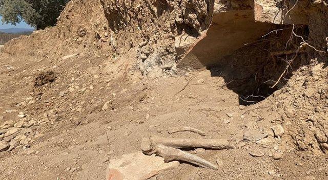 Bursa'da yol çalışmasında Bizans dönemi mezarları ve insan kemikleri bulundu