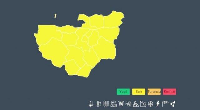 Bursa için sarı uyarı