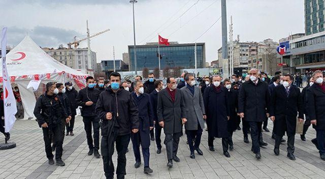 Cumhurbaşkanı Erdoğan AKM ve Taksim Camii'de incelemelerde bulundu