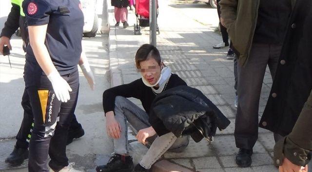 Hem yaralandı hem de ceza yedi