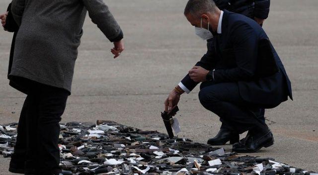 İspanya, terör örgütleri ETA ve GRAPO'dan ele geçirilen silahları imha etti