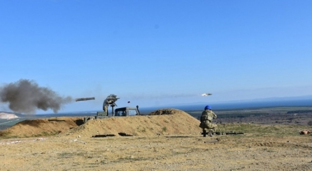"""MSB: """"Çanakkale'de tanksavar silahları ile atış eğitimi icra edildi. Hedefler tam isabetle vuruldu"""""""
