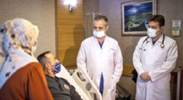 Sivaslı işçi, kapalı  cerrahi ile şifa buldu