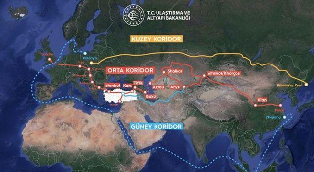 Türkiye stratejik konumuyla ulaşım rotası 'Orta Koridor'da kilit ülke haline geldi