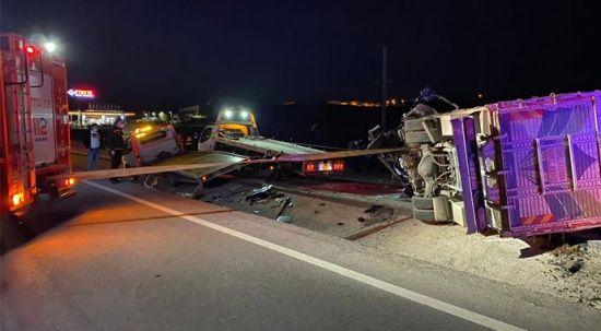 Bandırma'da katliam gibi kaza! 4 kişi hayatını kaybetti
