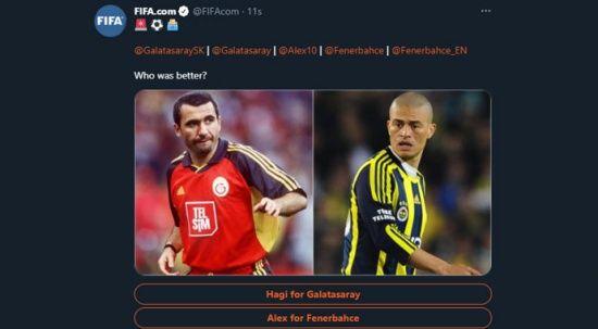 FIFA'nın oylamasında Alex, Hagi'yi geçti