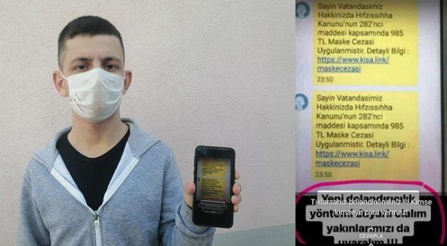 'Sahte Maske Cezası' mesajıyla son 1 haftada 300 bin lira dolandırdılar