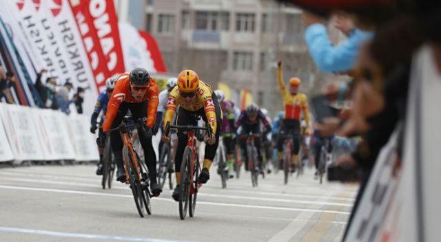 56. Cumhurbaşkanlığı Bisiklet Turu'nda Konya-Konya etabının 1'inci ayağını Arvid de Kleijn kazandı