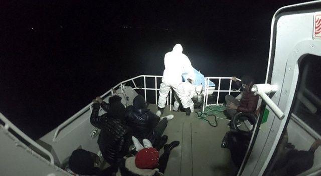 8 göçmenin imdadına Sahil Güvenlik ekipleri yetişti