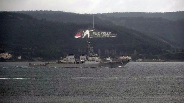 ABD savaş gemileri Karadeniz'e geçmiyor
