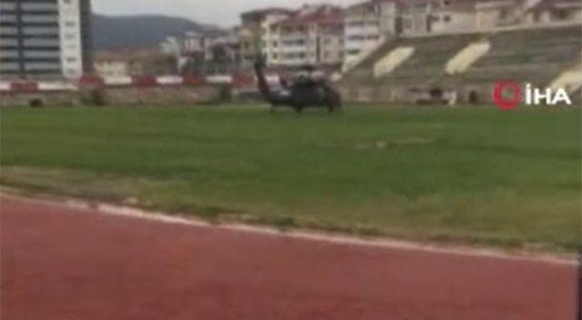 Bakan Soylu'yu taşıyan helikopter yoğun sis nedeniyle Bilecik'e indi