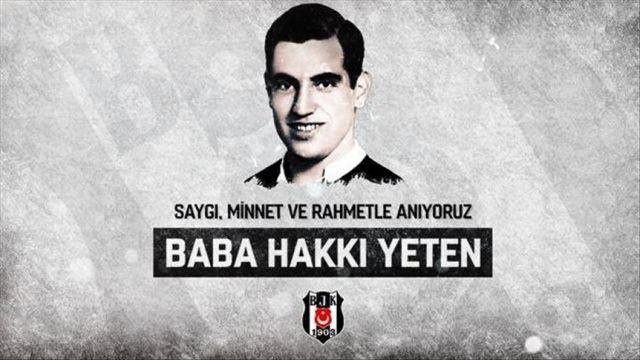 Beşiktaş, vefatının 32. yıl dönümünde 'Baba Hakkı'yı andı