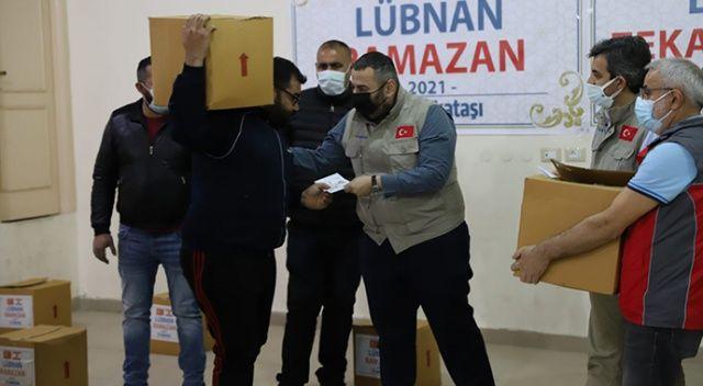 Binali Yıldırım ve ailesinden Lübnan'da mültecilere Ramazan yardımı