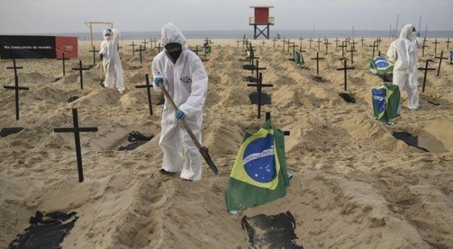 Brezilya'da Covid-19'a bağlı günlük can kaybı ilk kez 4 bini geçti